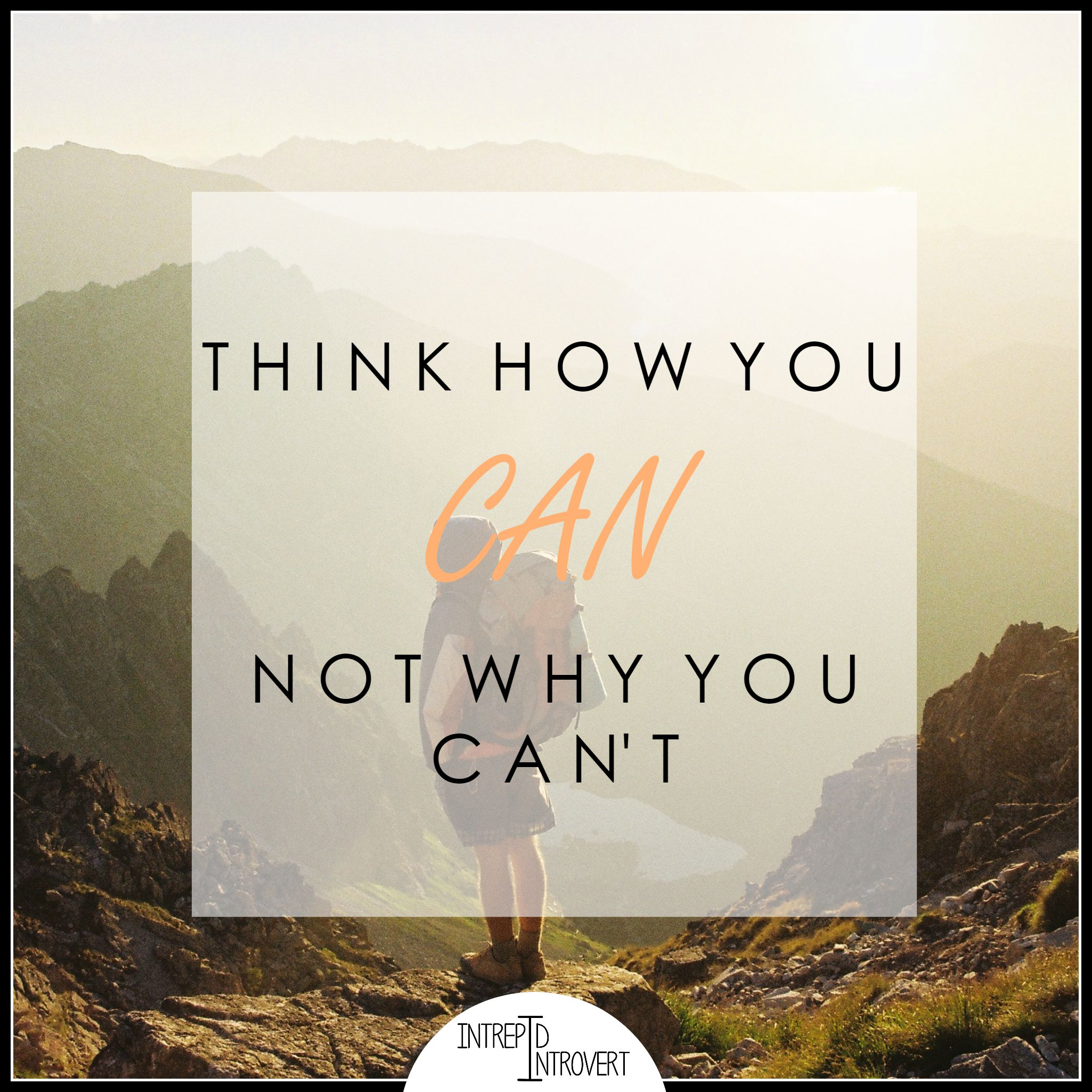 Think how you can