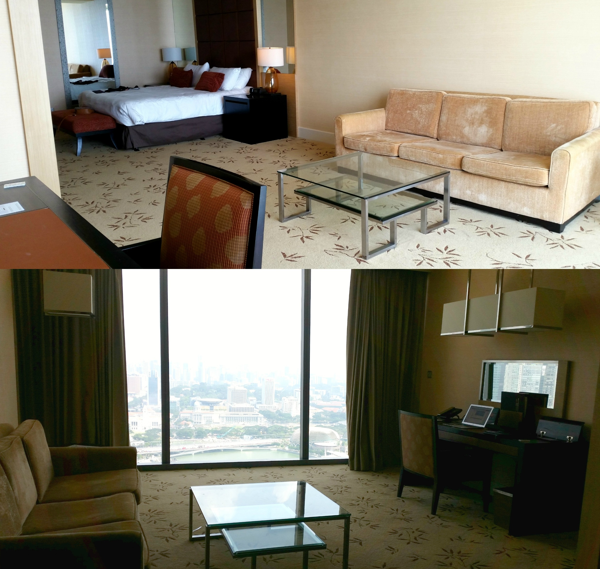Marina Bay Sands Room Collage