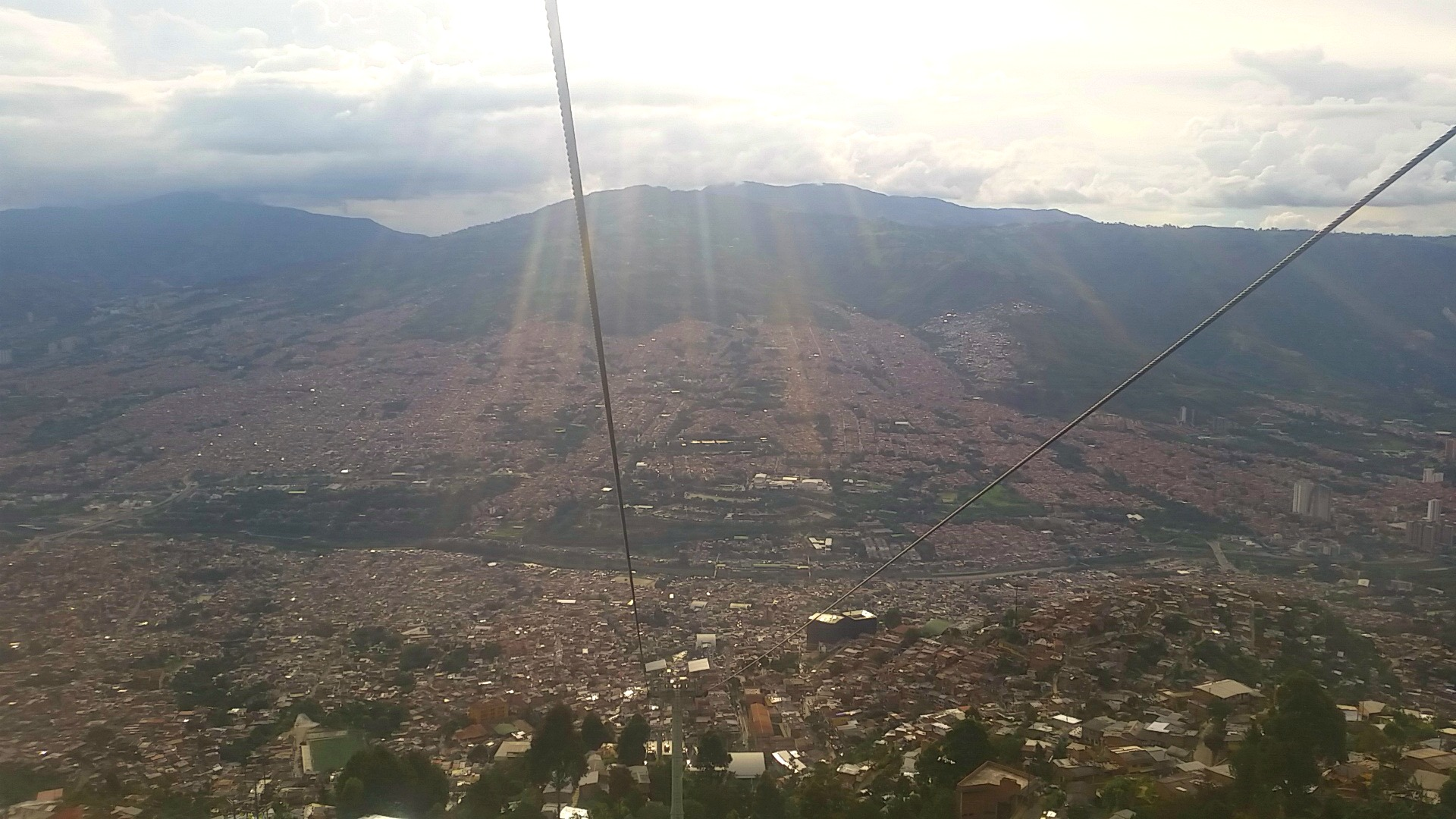 Medellin metro cable car