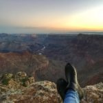 A GRAND CANYON SUNRISE AT NAVAJO POINT