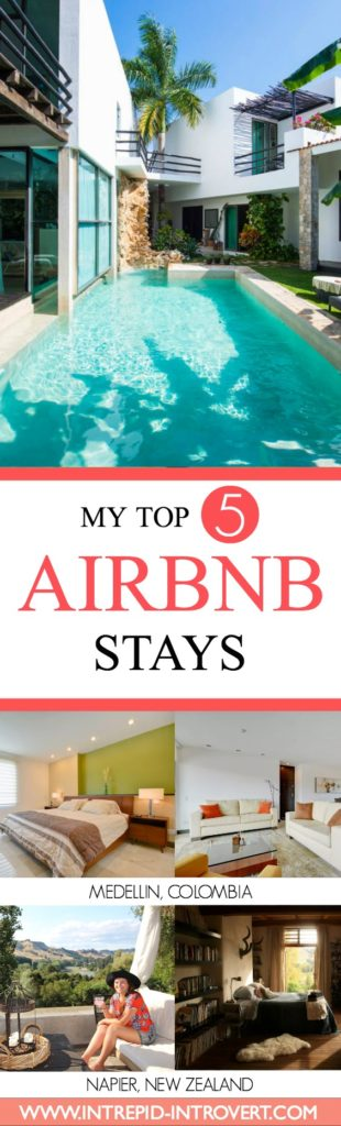 Airbnb is my go-to travel accommodation option! Here is my roundup of 5 awesome Airbnbs I got to stay in during 2016. Check them out in the post; they may be perfect for what you're looking for during your travels!