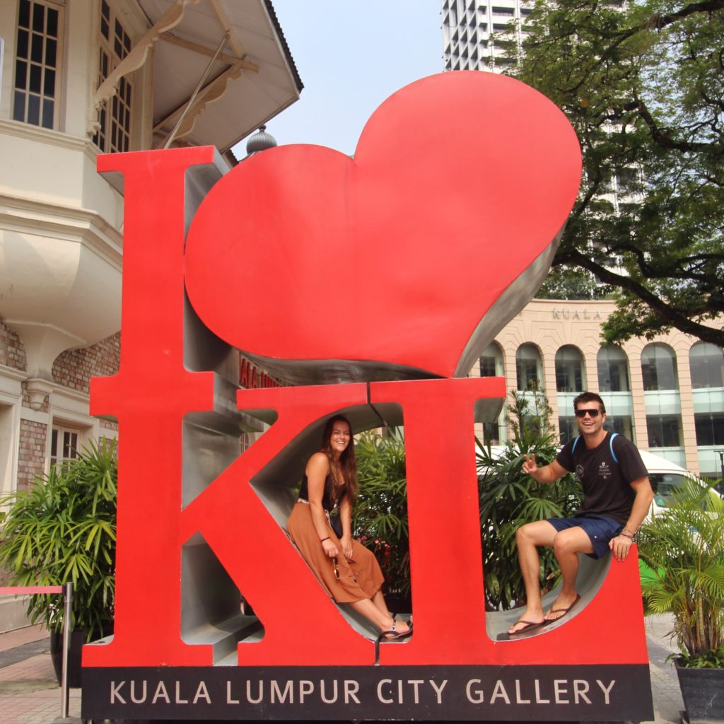 The best of Kuala Lumpur city tour with 'Withlocals' app. Here is the 'I Love KL' monument popular for photos. It's definitely a must-stop