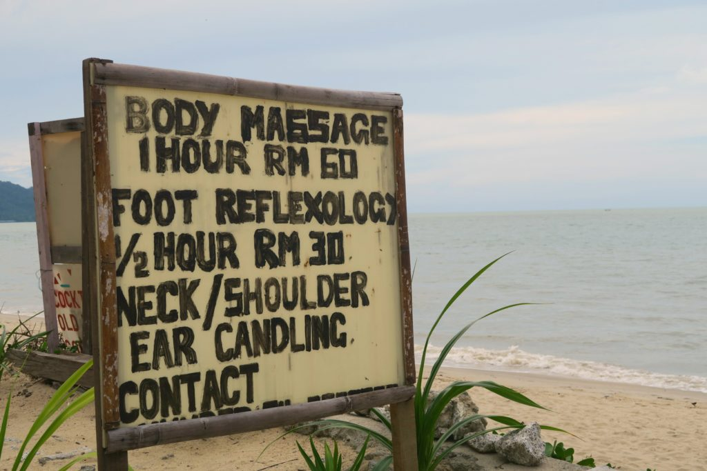 What to do with 3 days in Penang, Malaysia? How about a massage on the beach in Batu Ferringhi!
