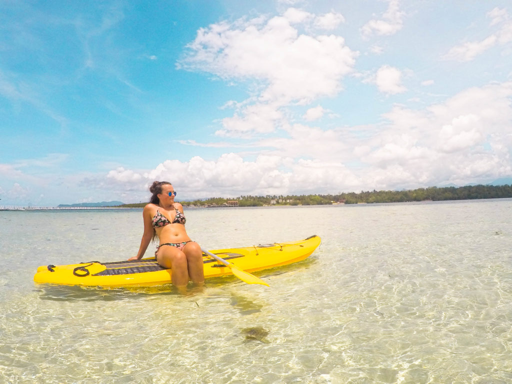 paddleboarding in Palawan