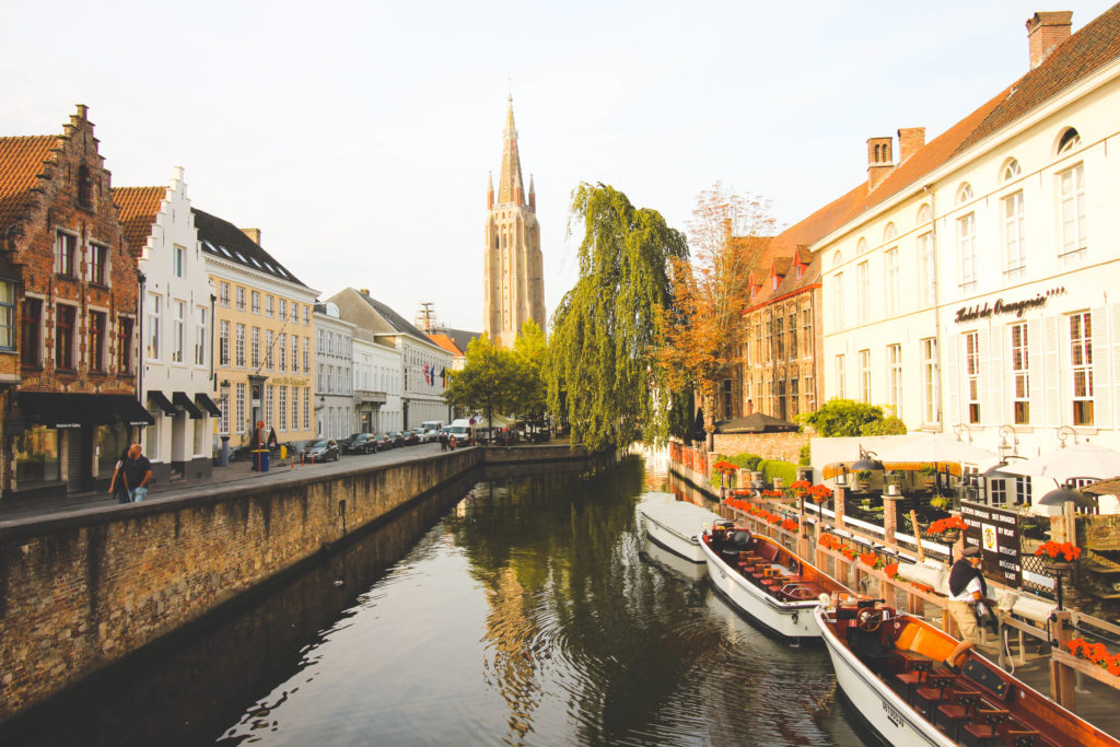 Bruges canal boat ride